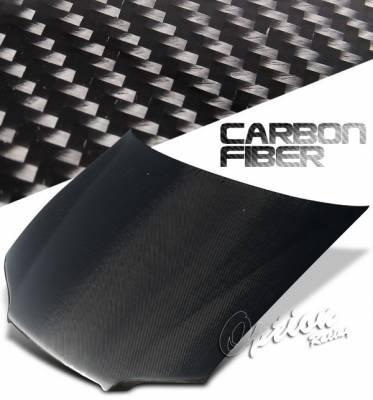 OptionRacing - Honda Accord 4DR Option Racing Carbon Fiber Hood - NRG-CH-H021