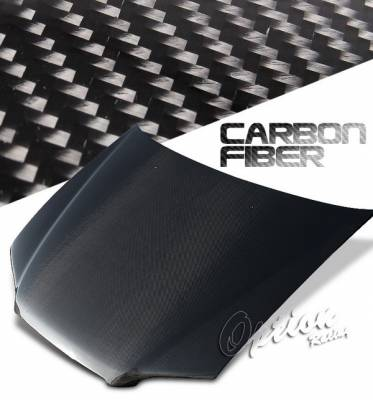 OptionRacing - Honda Accord 2DR Option Racing Carbon Fiber Hood - NRG-CH-H023