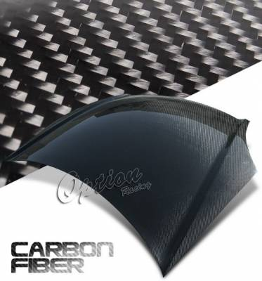 OptionRacing - Honda Civic Option Racing Carbon Fiber Hood - NRG-CH-H027