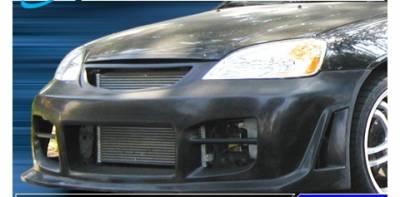 Pure - Honda Civic Pure Octane Style Front Bumper - P44804