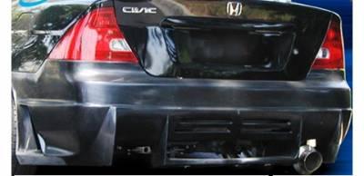 Pure - Honda Civic Pure Octane Style Rear Bumper - P44809