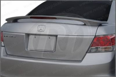 Restyling Ideas - Honda Accord 4DR Restyling Ideas Factory Style Spoiler with LED - 01-HOAC08F42PL