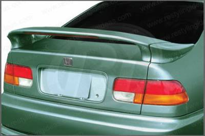 Restyling Ideas - Honda Civic 2DR Restyling Ideas Mid Spoiler with LED- 3PC - 01-HOCI96C3L