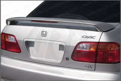 Restyling Ideas - Honda Civic 4DR Restyling Ideas Factory Style Spoiler with LED - 01-HOCI99F4L