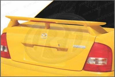Restyling Ideas - Mazda Protege Restyling Ideas Factory 3-Post Spoiler with LED - 01-MAMP02FL