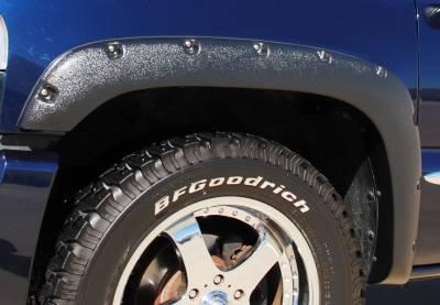 Prestige - Chevrolet Silverado Prestige Front Pair RX Rivet Style Textured Fender Flare Set - RX103TA