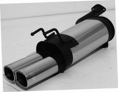 Remus - Nissan 300Z Remus Rear Silencer - Right Side with Dual Exhaust Tips - Square - 608091 0502R