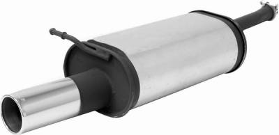 Remus - Audi A6 Remus Rear Silencer - Right Side with Exhaust Tip - Round - 047097 0505R