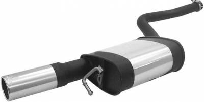 Remus - Audi A6 Remus Rear Silencer - Right Side with Exhaust Tip - Round - 048004 0505R