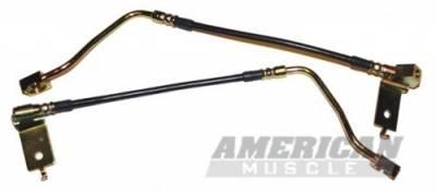 J&M - Ford Mustang J&M Stainless Steel Teflon Brake Hoses