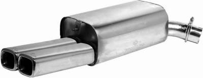 Remus - Chevrolet Corvette Remus Romulus Rear Silencer - Left with Dual Exhaust Tips - Square - 109495 0546LR