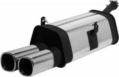 Remus - BMW 8 Series Remus Rear Silencer - Right Side with Dual Exhaust Tips - 089188 0550R