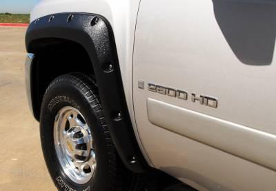 Prestige - Chevrolet Silverado Prestige Front Pair RX Rivet Style Textured Fender Flare Set - RX106TA