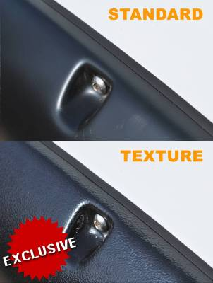 Prestige - Chevrolet Silverado Prestige Rear Pair RX Rivet Style Textured Fender Flare Set - RX106TB