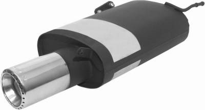 Remus - Mitsubishi Lancer Remus Rear Silencer with Exhaust Tip - Round - 556001 0580TD