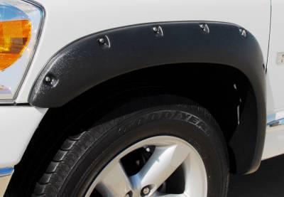 Prestige - Dodge Ram Prestige Front Pair RX Rivet Style Textured Fender Flare Set - RX203TA