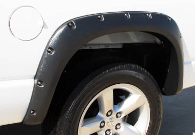 Prestige - Dodge Ram Prestige Rear Pair RX Rivet Style Textured Fender Flare Set - RX203TB