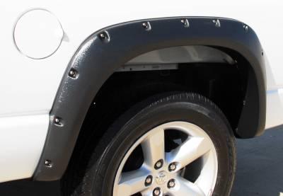 Prestige - Dodge Ram Prestige Rear Pair RX Rivet Style Textured Fender Flare Set - RX203TB