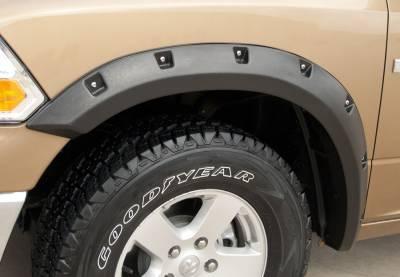 Prestige - Dodge Ram Prestige Front Pair RX Rivet Style Textured Fender Flare Set - RX204TA