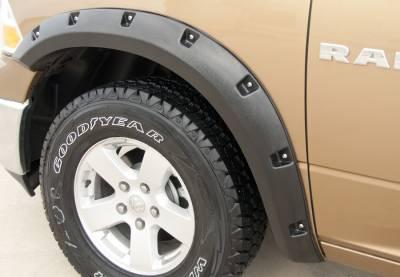 Prestige - Dodge Ram Prestige Rear Pair RX Rivet Style Textured Fender Flare Set - RX204TB