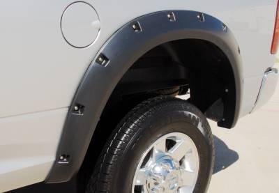 Prestige - Dodge Ram Prestige Rear Pair RX Rivet Style Textured Fender Flare Set - RX205TB