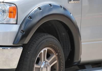 Prestige - Ford F150 Prestige Front Pair RX Rivet Style Textured Fender Flare Set - RX310TA
