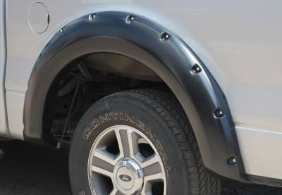 Prestige - Ford F150 Prestige Rear Pair RX Rivet Style Textured Fender Flare Set - RX310TB