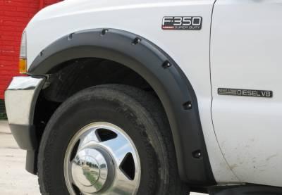 Prestige - Ford F250 Prestige Front Pair RX Rivet Style Textured Fender Flare Set - RX311TA