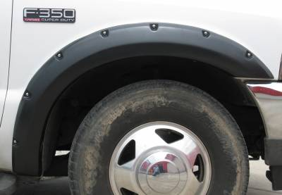 Prestige - Ford F250 Prestige Rear Pair RX Rivet Style Textured Fender Flare Set - RX311TB