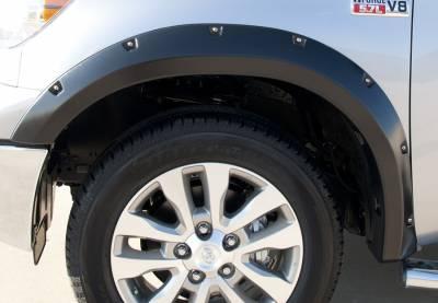 Prestige - Toyota Tundra Prestige Front Pair RX Rivet Style Textured Fender Flare Set - RX602TA