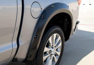 Prestige - Toyota Tundra Prestige Rear Pair RX Rivet Style Textured Fender Flare Set - RX602TB