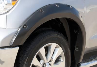Prestige - Toyota Tundra Prestige Front Pair RX Rivet Style Textured Fender Flare Set - RX603TA