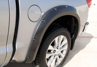 Prestige - Toyota Tundra Prestige Rear Pair RX Rivet Style Textured Fender Flare Set - RX603TB