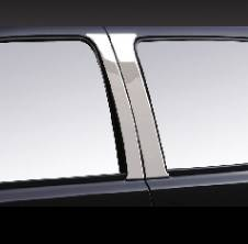 Pilot - Chevrolet Silverado Pilot Polished Stainless Steel Door Pillar - Set - SDP-104