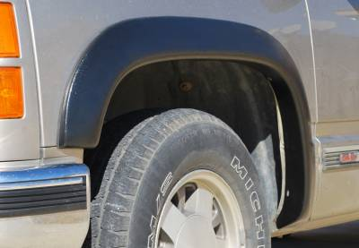 Prestige - Chevrolet K2500 Pickup Prestige Front Pair SX Street Style Textured Fender Flare Set - SX101TA