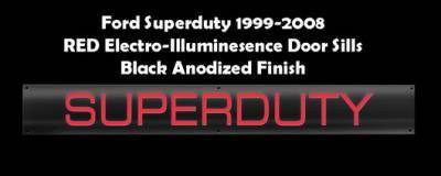 Recon - Ford Superduty Recon EL Illuminated Door Sill Plate - 264121FDBKRD
