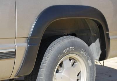 Prestige - Chevrolet K1500 Pickup Prestige Rear Pair SX Street Style Textured Fender Flare Set - SX101TB