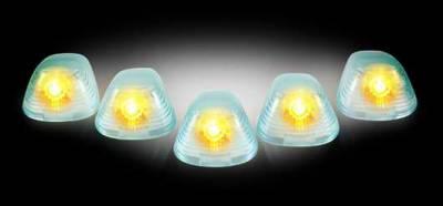 Recon - Recon Super White Cab Lens with Amber Xenon Bulbs - 5PC - 264142SW