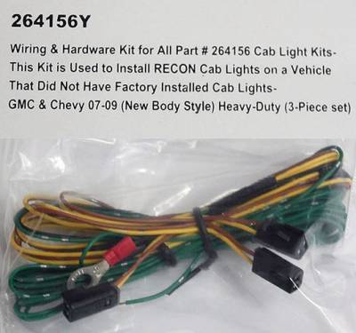 Recon - GMC Recon Roof Light Wiring & Hardware Kit - 264156Y
