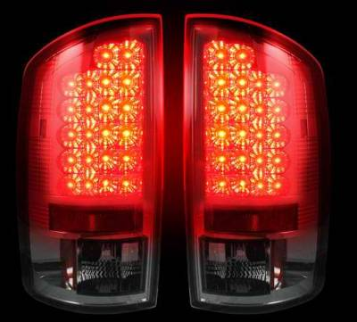 Recon - Recon LED Taillights with Dark Smoked Lens - 264171BK