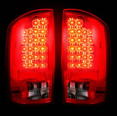 Recon - Recon LED Taillights with Dark Red Lens - 264171RD