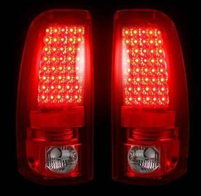 Recon - Recon LED Taillights with Dark Red Lens - 264173RD