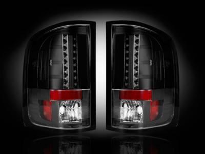 Recon - Chevrolet Silverado Recon LED Taillights - Smoked Lens - 264175BK