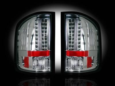 Recon - Chevrolet Silverado Recon LED Taillights - Clear Lens - 264175CL