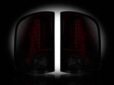 Recon - Chevrolet Silverado Recon LED Taillights - Dark Red Smoked Lens - 264175RBK