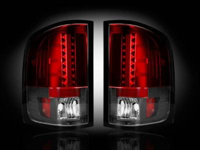 Recon - Chevrolet Silverado Recon LED Taillights - Red Lens - 264175RD