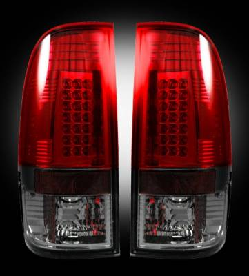 Recon - Ford Superduty Recon LED Taillights - Dark Red Smoked Lens - 264176RBK
