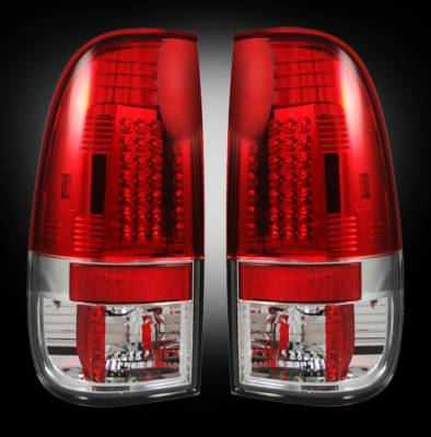 Recon - Ford Superduty Recon LED Taillights - Red Lens - 264176RD