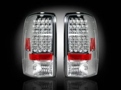Recon - GMC Denali Recon LED Taillights - Clear Lens - 264177CL