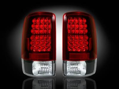 Recon - GMC Denali Recon LED Taillights - Red lens - 264177RD